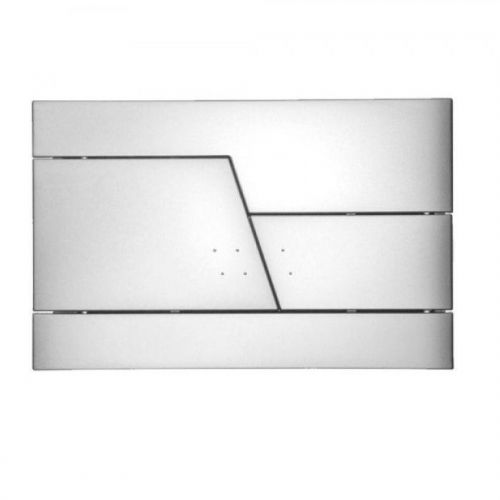 Abacus Easi-Plan Zone Dual Flush Plate - Satin
